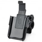 Plastic Bicycle Bike 360-Degree Swivel Mount Holder for iPhone 4S - Black