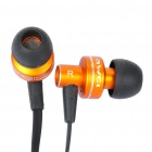 AWEI ES900i Stylish In-Ear Earphone w/ Microphone for iPhone 4 - Orange (3.5mm-Plug / 125cm-Cable)
