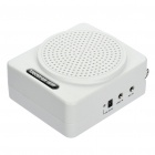 Multi-Function MP3 Music Speaker Megaphone Voice Amplifier with FM / TF - White