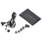 AWEI ES900i Stylish In-Ear Earphone w/ Microphone for Iphone 4 - Silver (3.5mm-Plug / 125cm-Cable)