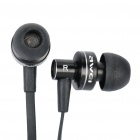 AWEI ES900i Stylish In-Ear Earphone w/ Microphone for iPhone 4 - Black (3.5mm-Plug / 125cm-Cable)