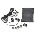 AWEI ES900i 3.5mm in-ear hörlurar w / mikrofon för iPhone 4 - svart (125cm)