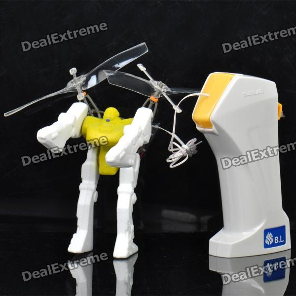Wired R/C Flying Robot - Yellow (1.4m-Cable / 4 x AA)