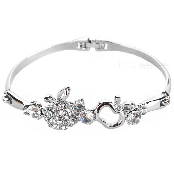 925 Silver Plated Bracelet Crystal de Apple