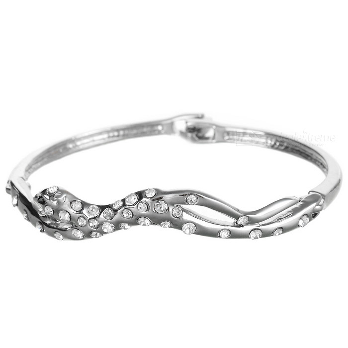 925 Silver Plated Leopard Crystal Bracelet 925 silver plated leopard crystal bracelet