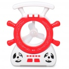 Rudder Style Multi-Function 16-LED White Lamp + Fan + MP3 Player Speaker w/ FM / TF - Red + White