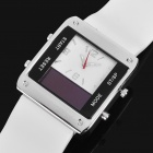 Square Digital + Analog Dual-Time Display Silicone Band LED Wristwatch for Men (1 x 377)