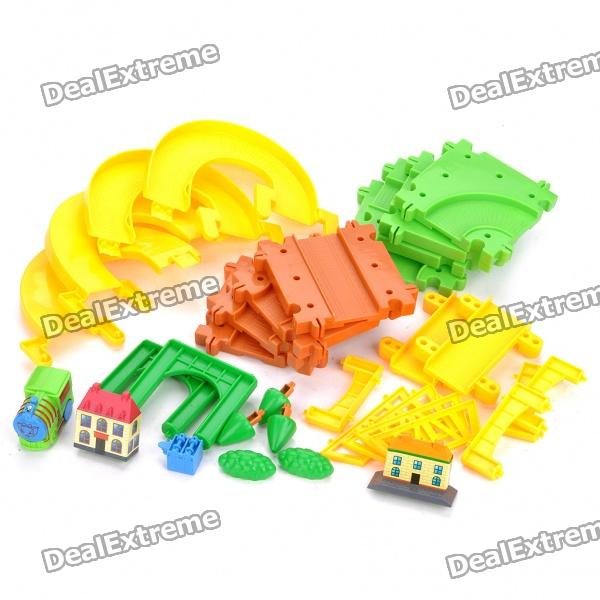 Joy Home Theme Toy Blocks Game Electric Car Assembly Kit (33-Piece Pack)