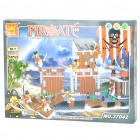 Intellectual Development DIY 3D Pirate Castle Toy Bricks Puzzle Set (358-Piece)