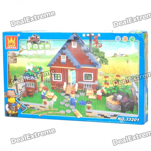 Intellectual Development DIY 3D Farm Toy Bricks Puzzle Set (719-Piece) kazi 1193pcs century military tank building blocks tank bricks educational bricks toy kids birthday gift toys for children 82010