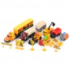 Under Construction Streamlined Body Work Design DIY Toy Assembly Kit