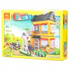 Intellectual Development DIY 3D Villa Toy Bricks Puzzle Set (390-Piece)