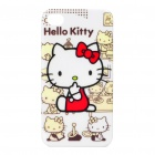 Protective Hello Kitty Pattern Plastic Case for iPhone 4/4S (White + Beige + Red)