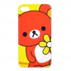 Protective Cartoon Bear Pattern Plastic Case for iPhone 4/4S - Orange + Yellow