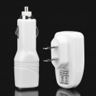 3-in-1 Car Cigarette Powered Charger + USB Data/Charging Cable + Power Adapter Set for iPhone 4S