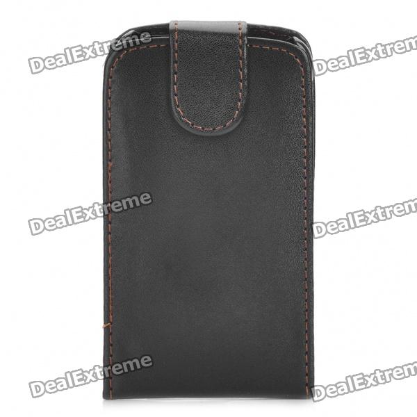 Protective PU Leather Case Pouch for Motorola MB860 - Black