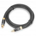 MOSHOU 24K Gold-Plated Male to Male Connectors Digital Fever Optical Fiber Wire Cables (1M - Cable)