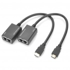 HDMI Extender 1080P HDMI Male to TMDS + DDC Female Network Lan Cable - 30M (2 Piece Pack)