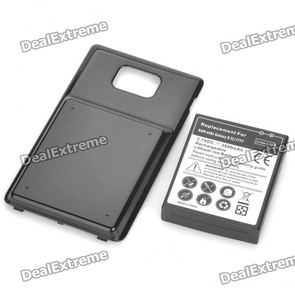 Replacement 3.7V 3500mAh Extended Battery with Decoder / Cover Case for Samsung Galaxy S2/i777 replacement 3 7v 3500mah 1800mah battery w battery cover set for samsung i9100 galaxy s2