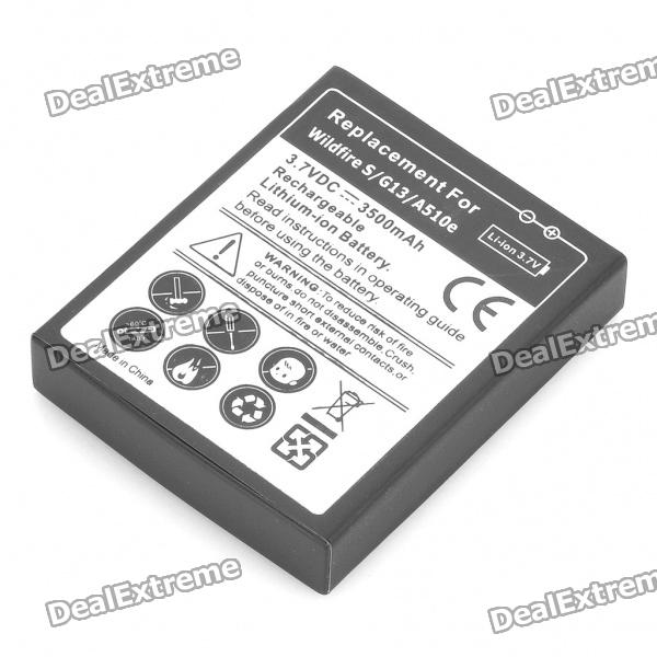 Replacement 3.7V 3500mAh Extended Battery with Decoder + Cover Case for HTC Wildfire S G8S A510e replacement 3 7v 1500mah cellphone battery with charger for htc desire hd