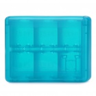 Protective Game Cards Memory Cards Holder Storage Case - Blue (28-in-1)