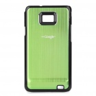 Protective PC Back Case for Samsung i9100 - Green