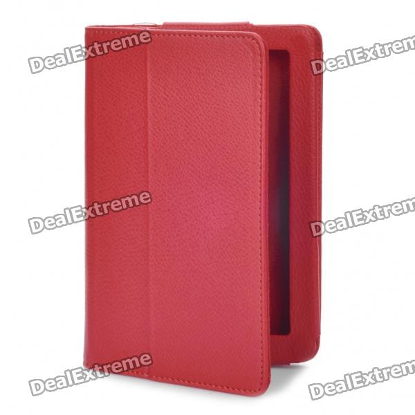 Protective PU Leather Case for Kindle Fire 7 - Deep Red protective pu leather case for kindle fire 7 deep red