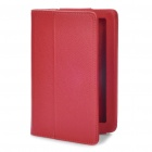 "Protective PU Leather Case for Kindle Fire 7"" - Deep Red"