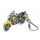 Cool Zinc Alloy Motorcycle Pendant Keychain - Grey + Yellow