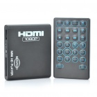 1080P HD Mini Media Player with AV / HDMI / AV / USB / SD - Black