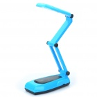 Folding Rechargeable Touch Control White 21-LED 3-Mode Table Light Desk Lamp (Blue + Black)