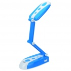 Folding Rechargeable White 31-LED 2-Mode Ultra Bright Table Light Desk Lamp (Blue + White)
