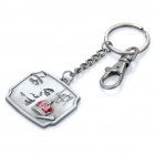 Zinc Alloy Crown Michael Jackson Keychain - Grey