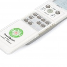 "Universal 1.7"" LCD Air Conditioner Remote Control - White (2 x AAA)"