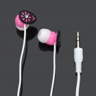 Stylish In-Ear Earphone - Pink + Black (3.5mm-Plug / 100cm-Cable)