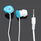 Stylish In-Ear Earphone - Blue (3.5mm-Plug / 100cm-Cable)