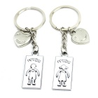 I-LOVE-YOU Smiley Face Stainless Steal Keychain for Couples (2-Piece Set)