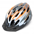 Cool 24 Vents Sports Cycling Helmet - Orange + White (Size-L)