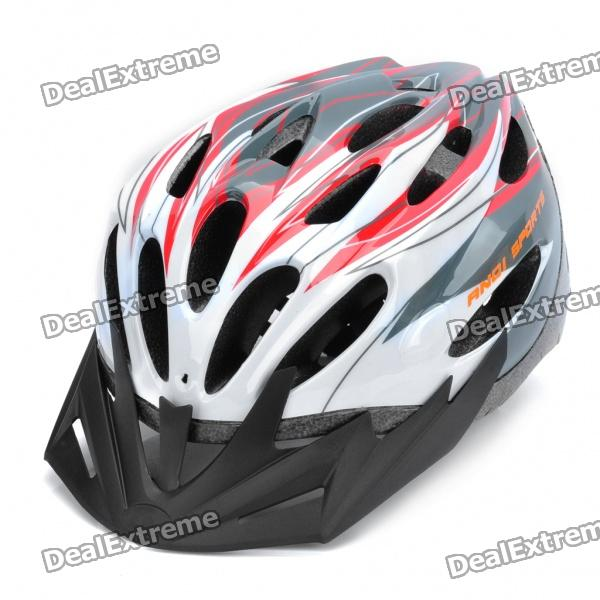 Cool 24Vents Sports Cycling Helmet - Red + White (Size-L)