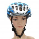 Cool 41 Vents Sports Cycling Helmet - Grey + Blue + White (Size-L)