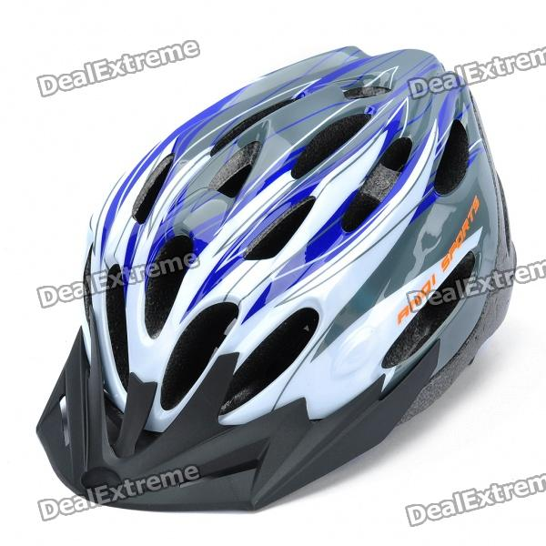Cool 24 Vents Sports Cycling Helmet - Blue + White (Size-L)