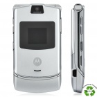 "Refurbished Motorola RAZR V3 GSM Flip Phone w/ 2.2"" LCD Screen, Quad-Band and Java - Silver"