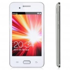 "i9220+ GSM TV Cellphone w/ 4.0"" Touch Screen, Quadband, Dual SIM, Wi-Fi and Java - White"