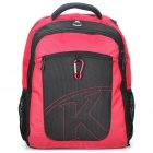 "Stylish Genuine Kingsons Outdoor Backpack Double-Shoulder Bag for 15.4"" Laptop - Black + Red"