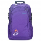 "Stylish Genuine Kingsons Backpack Double-Shoulder Bag for 16"" Laptop - Black + Purple"