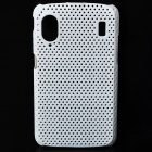 Protective Mesh Style Plastic Back Case for ZTE V960 - White