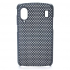Protective Mesh Style Plastic Back Case for ZTE V960 - Black
