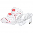 Dual-Shock USB Wired PC Game Joypad Controller - White