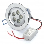 5W 5-LED 500LM 6500K White Light Ceiling Lamp (85~260V)