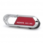 Genuine ADATA Karabiner Clip-Stil USB 2.0 Flash Drive - Red + Silber (8GB)